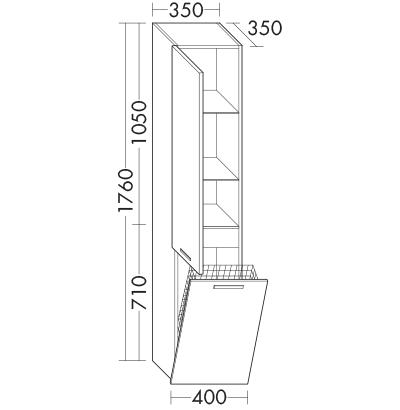 Colonne HSCM040 Meubles de salle de bain - Série Essento | Burgbad